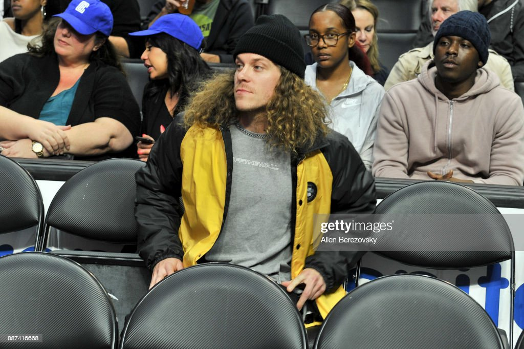 Actor Blake Anderson attends a basketball game between the Los Angeles Clippers and the Minnesota Timberwolves at Staples Center on December 6, 2017 in Los Angeles, California.