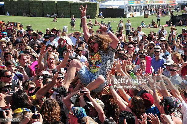 Actor Blake Anderson attends day 2 of the 2014 Coachella Valley Music Arts Festival at the Empire Polo Club on April 12 2014 in Indio California