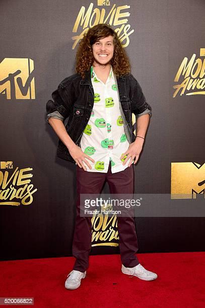 Actor Blake Anderson attends the 2016 MTV Movie Awards at Warner Bros Studios on April 9 2016 in Burbank California MTV Movie Awards airs April 10...