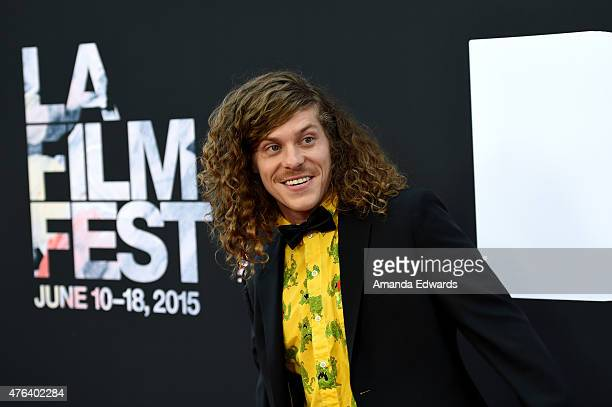Actor Blake Anderson attends the Los Angeles premiere of Dope in partnership with the Los Angeles Film Festival at Regal Cinemas LA Live on June 8...