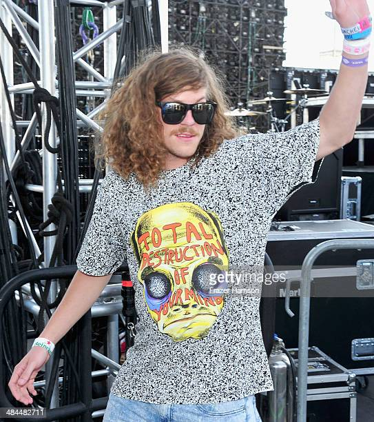 Actor Blake Anderson speaks onstage during day 2 of the 2014 Coachella Valley Music Arts Festival at the Empire Polo Club on April 12 2014 in Indio...