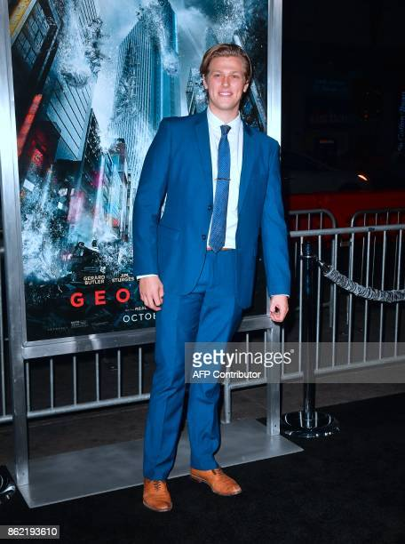 Actor Blake Burt arrives for the World Premiere of the film 'Geostorm' in Hollywood California on October 16 2017 'Geostorm' opens in theaters on...