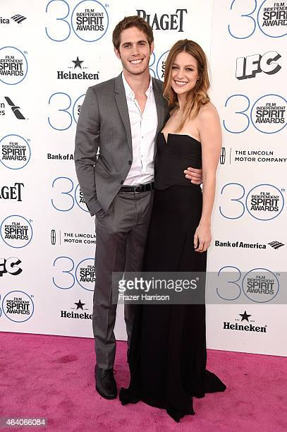 Actor Blake Jenner and actress Melissa Benoist attend the 2015 Film Independent Spirit Awards at Santa Monica Beach on February 21 2015 in Santa...