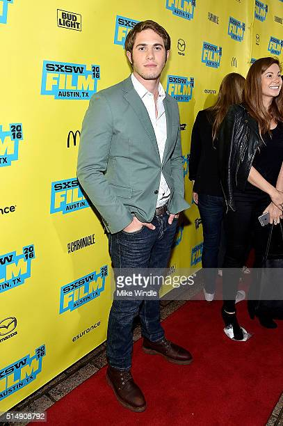 Actor Blake Jenner attends the screening of Everybody Wants Some during the 2016 SXSW Music Film Interactive Festival at Paramount Theatre on March...