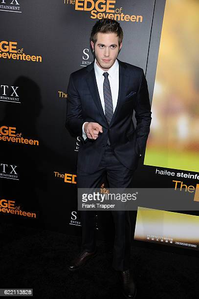 Actor Blake Jenner attends the screening of STX Entertainment's 'The Edge of Seventeen' held at Regal LA Live Stadium 14 on November 9 2016 in Los...