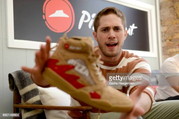 Actor Blake Jenner from the film 'American Animals' poses at the Pizza Hut Lounge at the 2018 SXSW Film Festival on March 10 2018 in Austin Texas