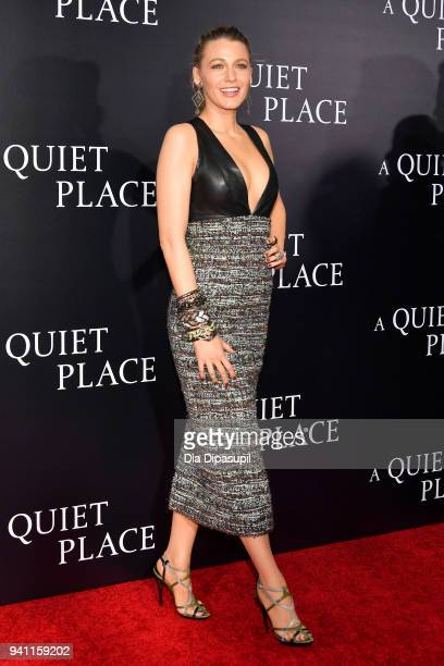 Actor Blake Lively attends the 'A Quiet Place' New York Premiere at AMC Lincoln Square Theater on April 2 2018 in New York City