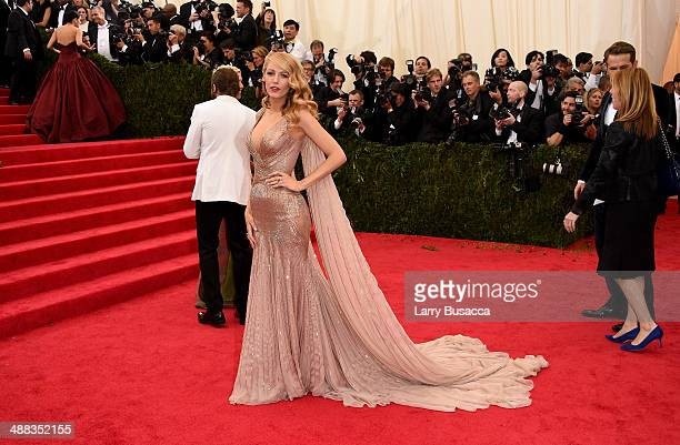 Actor Blake Lively attends the Charles James Beyond Fashion Costume Institute Gala at the Metropolitan Museum of Art on May 5 2014 in New York City