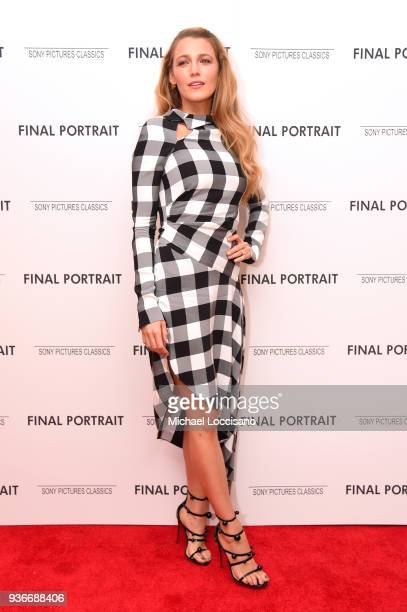 Actor Blake Lively attends the Final Portrait New York Screening at Guggenheim Museum on March 22 2018 in New York City