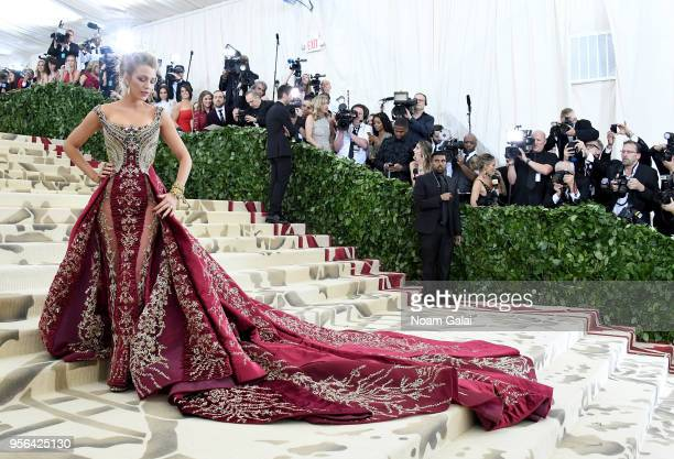 Actor Blake Lively attends the Heavenly Bodies Fashion The Catholic Imagination Costume Institute Gala at The Metropolitan Museum of Art on May 7...
