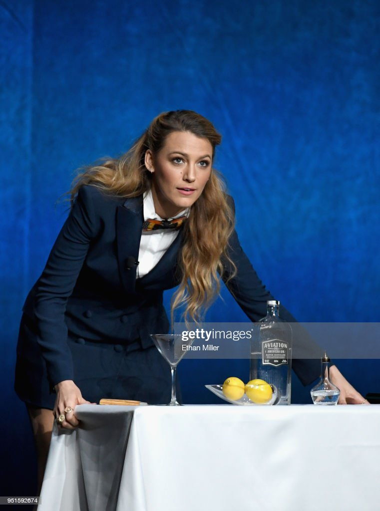Actor Blake Lively onstage during CinemaCon 2018 Lionsgate Invites You to An Exclusive Presentation Highlighting Its 2018 Summer and Beyond at The Colosseum at Caesars Palace during CinemaCon, the official convention of the National Association of Theatre Owners, on April 26, 2018 in Las Vegas, Nevada.