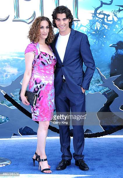 Actor Blake Michael and his mom arrive at the Los Angeles premiere of Maleficent on May 28 2014 at the El Capitan Theatre in Hollywood California
