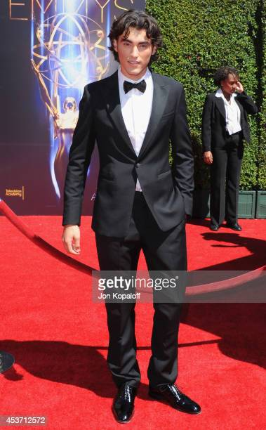 Actor Blake Michael arrives at the 2014 Creative Arts Emmy Awards at Nokia Theatre LA Live on August 16 2014 in Los Angeles California