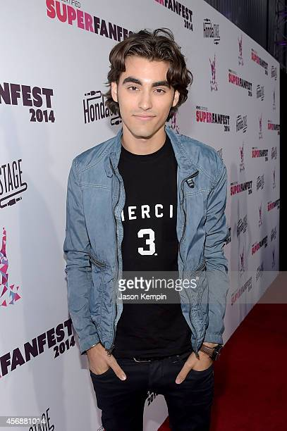Actor Blake Michael attends the Vevo CERTIFIED SuperFanFest presented by Honda Stage at Barkar Hangar on October 8 2014 in Santa Monica California