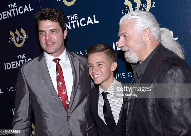 Actor Blake Rayne actor Noah Urrea and Founder of City of Peace Films Yochanan Marcellino attend City Of Peace Films With The Cinema Society Host The...