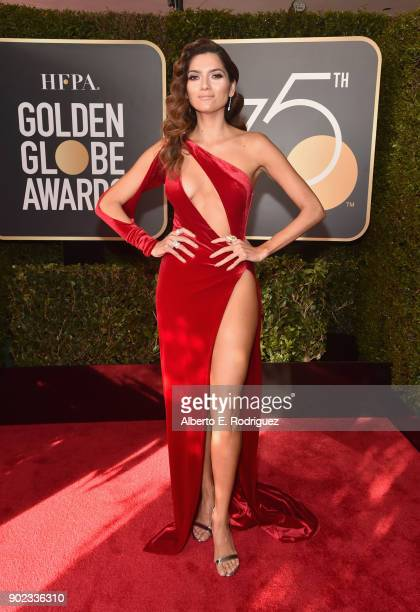 Actor Blanca Blanco attends The 75th Annual Golden Globe Awards at The Beverly Hilton Hotel on January 7 2018 in Beverly Hills California