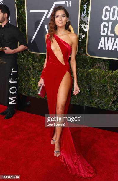 Actor Blanca Blanco celebrates The 75th Annual Golden Globe Awards with Moet Chandon at The Beverly Hilton Hotel on January 7 2018 in Beverly Hills...