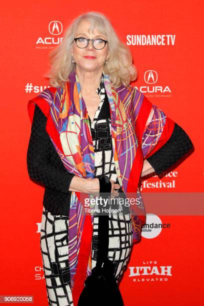 Actor Blythe Danner attends the Volunteer Screening Of 'Hearts Beat Loud' Premiere during the 2018 Sundance Film Festival at Park City Library on...