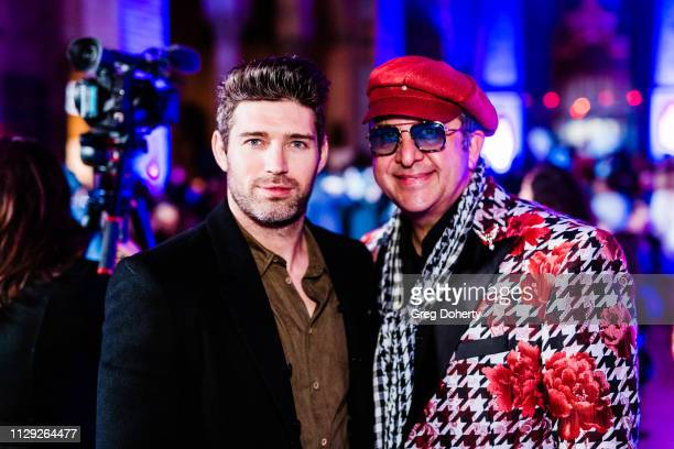 Actor Bo Roberts and Anoush Sadegh from Mercedez Benz Encino attends the Sanctuary Fashion Week on March 7 2019 in Los Angeles California