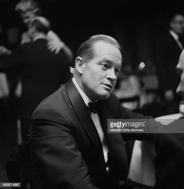 Actor Bob Hope looks on during the Academy Awards in Los Angeles, California.