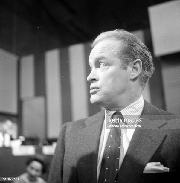 Actor Bob Hope looks on during the Academy Awards nominations in Los Angeles, California.