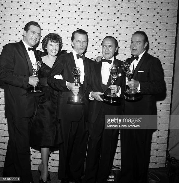 Actor Bob Hope with his Golden Globe Award for an Ambassador of Good Will in Los Angeles California