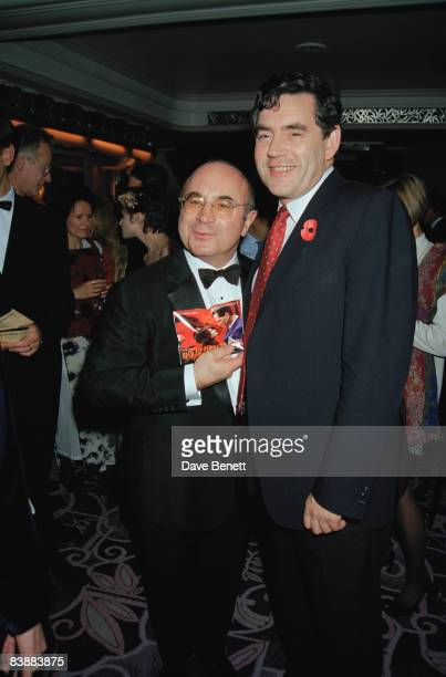 Actor Bob Hoskins with Chancellor of the Exchequer Gordon Brown at the opening gala for the London Film Festival 6th November 1997