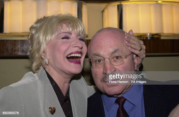 Actor Bob Hoskins with comedienne Faith Brown at a Variety Club tribute lunch for actor Michael Caine to acknowledge all the work he does for...