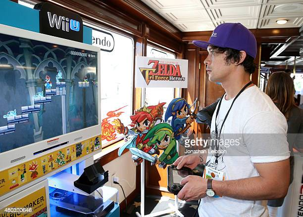 Actor Bob Morley attends The Nintendo Lounge on the TV Guide Magazine yacht during ComicCon International 2015 on July 10 2015 in San Diego California