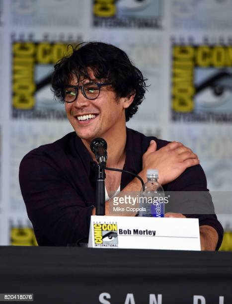 Actor Bob Morley speaks onstage at ComicCon International 2017 The 100 panel at San Diego Convention Center on July 21 2017 in San Diego California