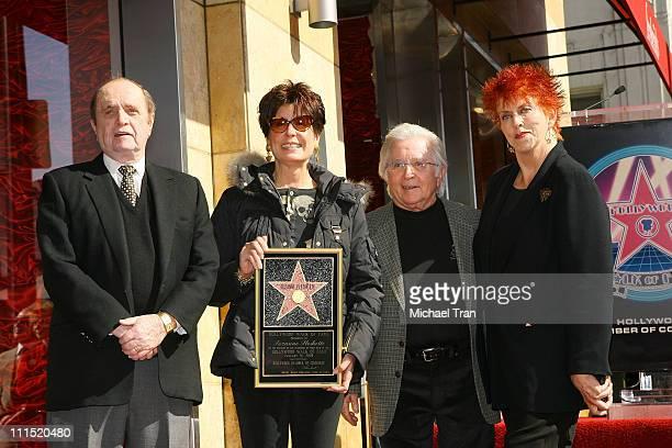 Actor Bob Newhart actress Tina Sinatra actor Arte Johnson and actress Marcia Wallace attend the Hollywood Walk of Fame tribute honoring actress...