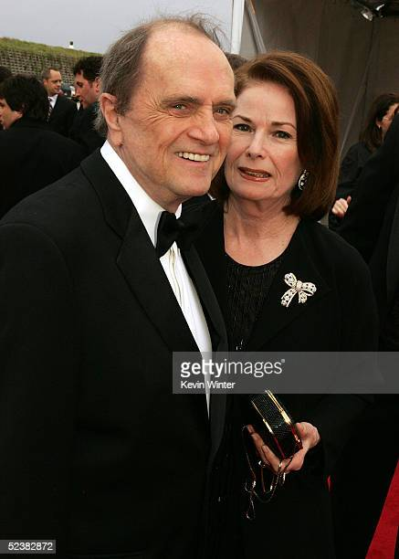Actor Bob Newhart and wife Virginia Quinn arrive at the 2005 TV Land Awards at Barker Hangar on March 13 2005 in Santa Monica California
