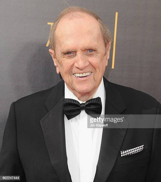 Actor Bob Newhart arrives at the 2016 Creative Arts Emmy Awards at Microsoft Theater on September 10 2016 in Los Angeles California