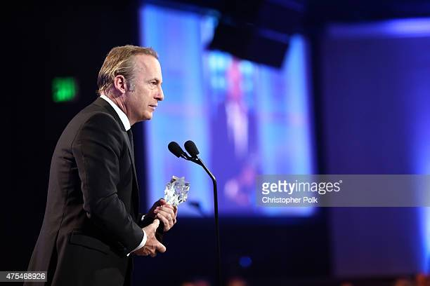 Actor Bob Odenkirk accepts the Best Actor in a Drama Series award for Better Call Saul onstage at the 5th Annual Critics' Choice Television Awards at...