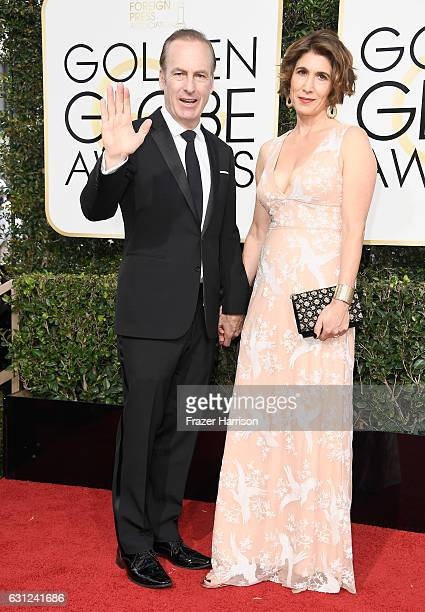 Actor Bob Odenkirk and Naomi Odenkirk attend the 74th Annual Golden Globe Awards at The Beverly Hilton Hotel on January 8 2017 in Beverly Hills...