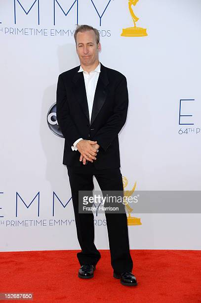 Actor Bob Odenkirk arrives at the 64th Annual Primetime Emmy Awards at Nokia Theatre L.A. Live on September 23, 2012 in Los Angeles, California.
