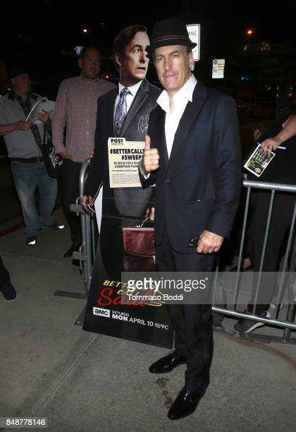 Actor Bob Odenkirk at AMC BBCA and IFC Emmy party at BOA Steakhouse on September 17 2017 in West Hollywood California