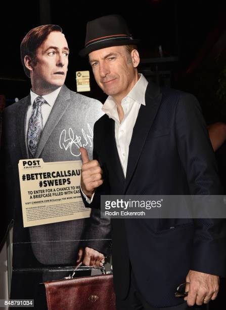 Actor Bob Odenkirk attends AMC Networks 69th Primetime Emmy Awards afterparty celebration at BOA Steakhouse on September 17 2017 in West Hollywood...