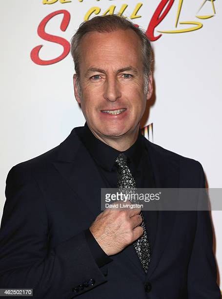 Actor Bob Odenkirk attends the series premiere of AMC's 'Better Call Saul' at Regal Cinemas LA Live on January 29 2015 in Los Angeles California