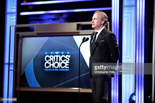 Actor Bob Odenkirk speaks onstage at the 5th Annual Critics' Choice Television Awards at The Beverly Hilton Hotel on May 31 2015 in Beverly Hills...