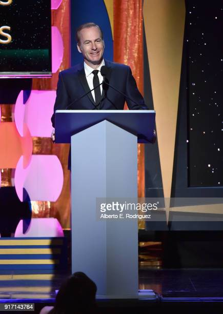 Actor Bob Odenkirk speaks onstage during the 2018 Writers Guild Awards LA Ceremony at The Beverly Hilton Hotel on February 11 2018 in Beverly Hills...