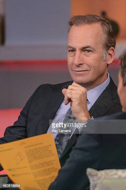 Actor Bob Odenkirk tapes an interview at 'Good Morning America' at the ABC Times Square Studios on February 5 2015 in New York City
