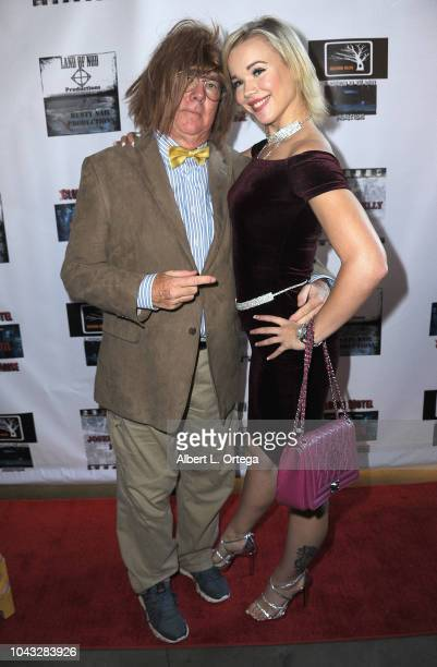 Actor Bob Oliver and actress Alyssa Leonard arrive for the 'Clown Motel Spirit's Arise' Premiere held at Downtown Independent Theater on September 29...