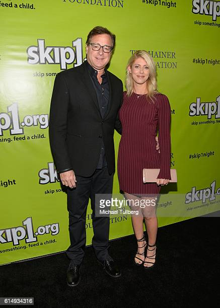 Actor Bob Saget and Kelly Rizzo attend the Skip1 Night for helping impoverished children and families at Loews Hollywood Hotel on October 15 2016 in...