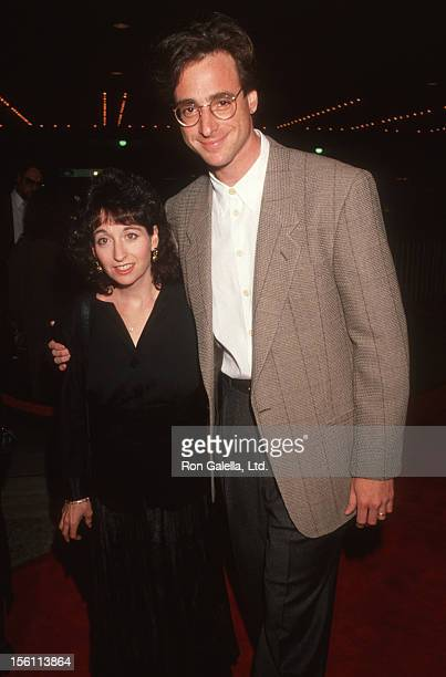 Actor Bob Saget and wife Sherri Kramer attending the premiere of 'Silence of the Lambs' on February 1 1991 at the Cineplex Odeon Cinema in Century...