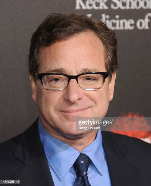 Actor Bob Saget arrives at the 2nd Annual Rebel With A Cause Gala at Paramount Studios on March 20 2014 in Hollywood California