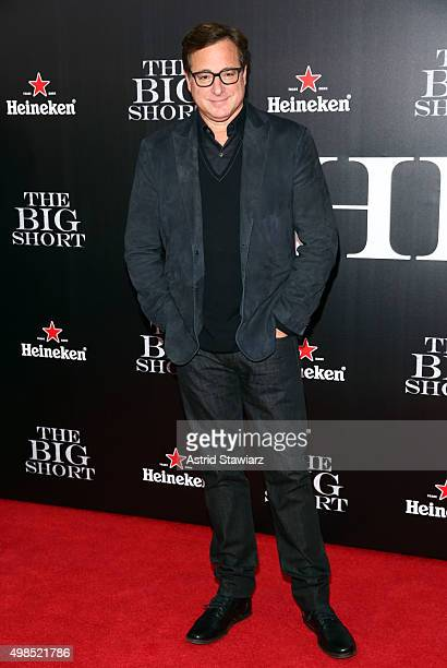 """Actor Bob Saget attends """"The Big Short"""" New York premiere at Ziegfeld Theater on November 23, 2015 in New York City."""
