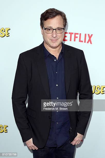 Actor Bob Saget attends the premiere of Netflix's Fuller House at Pacific Theatres at The Grove on February 16 2016 in Los Angeles California