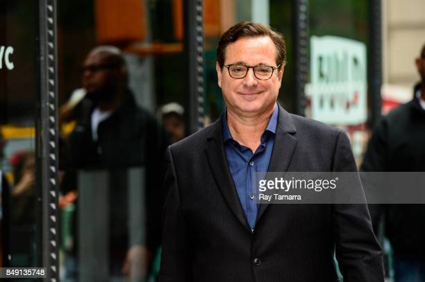 Actor Bob Saget leaves the 'AOL Build' taping at the AOL Studios on September 18 2017 in New York City