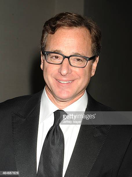 Actor Bob Saget poses during the 2015 Writers Guild Awards LA Ceremony at the Hyatt Regency Century Plaza on February 14 2015 in Century City...